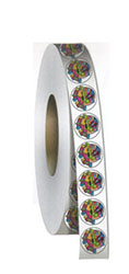 Circle Roll Stickers